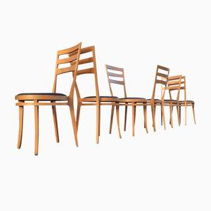 Buchenholz Esszimmerstühle mit Hoher Rückenlehne von Tashiki Okamura & Erik Marquardsen für Getama, 1980er, 6er Set