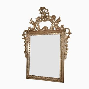 Antique Mirror with Silver-Plated Frame