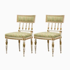 Antique Gustavian Empire Style Chairs, Set of 2