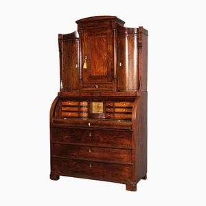 Antique Danish Sen-Empire Secretary, 1840s