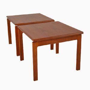 Tables d'Appoint Mid-Century en Teck, Scandinavie, 1960s, Set de 2
