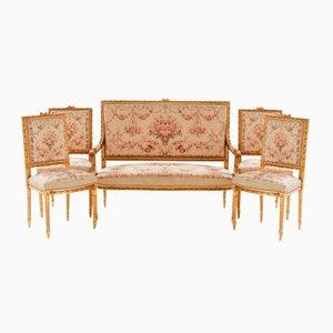 Antikes Schwedisches Salon Set, 5er Set