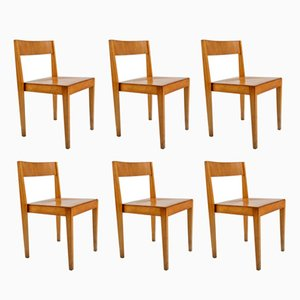 Mid-Century Wooden Dining Chairs from Lübke, 1960s, Set of 6