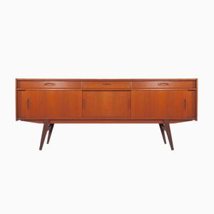 Mid-Century Danish Teak Sideboard with 3 Drawers and 3 Sliding Doors, 1950s