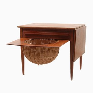 Vintage Sewing Table by Johannes Andersen for CFC Silkeborg