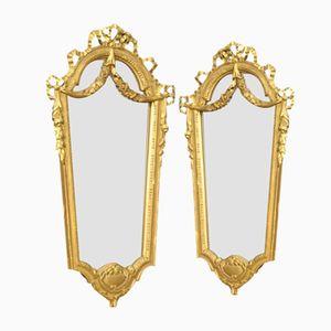 Italienische Spiegel mit Vergoldeten Rahmen, 2er Set