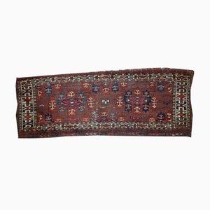 Handmade Antique Turkmen Yomud Rug, 1880s