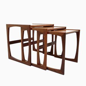 Quadrille Nesting Tables by Robert Bennett for G-Plan, 1960s