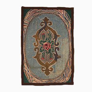Antiker Amerikanischer Floraler Teppich