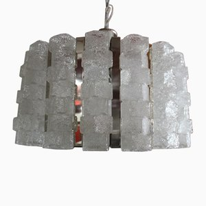 Chromed Metal and Glass Chandelier from Zeroquattro, 1960s