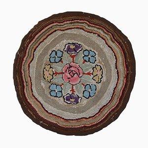 Antiker Amerikanischer Handgemachter Teppich