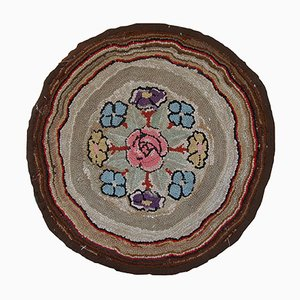 Antique American Handmade Hooked Rug
