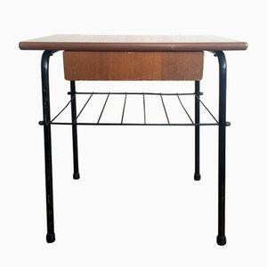 Modernistischer Nachttisch mit Schublade, 1960er