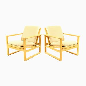 Danish Oak Armchairs by Børge Mogensen, 1960s, Set of 2