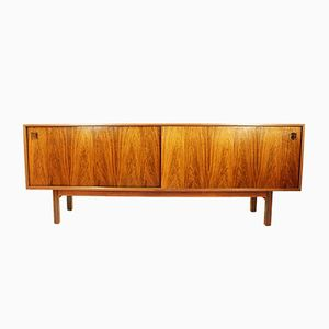 Danish Rosewood Sideboard with Sliding Doors by Omann Junior, 1960s