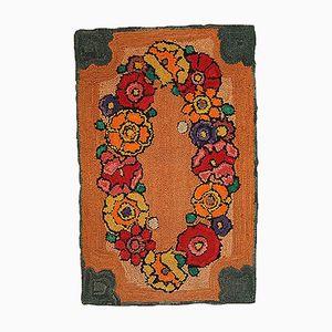Antiker Amerikanischer Handgemachter Teppich, 1940er