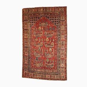 Handmade Antique Turkish Anatolian Prayer Rug, 1890s