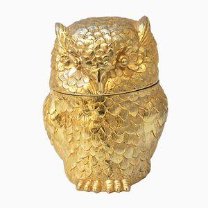 Italian Gold Owl Ice Bucket by Mauro Manetti for Fonderia d'Arte, 1960s