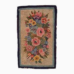 Antiker Amerikanischer Floraler Teppich, 1880er