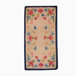 Antiker Amerikanischer Handgeknüpfter Teppich, 1930er