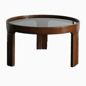 Italian Coffee Table with Glass Top, 1950s