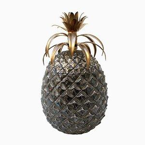 Italian Silver Pineapple Ice Bucket by Mauro Manetti for Fonderia d'Arte, 1960s