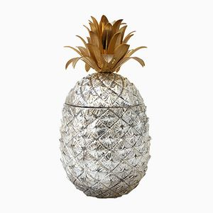 Italian Silver and Gold Pineapple Ice Bucket by Mauro Manetti for Fonderia d'Arte, 1960s