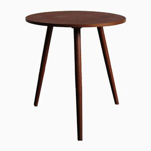 Round Coffee Table in Teak, 1950s