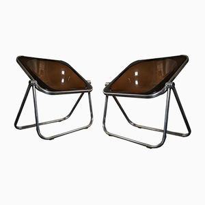 Plona Folding Chairs by Giancarlo Piretti for Castelli, Set of 2
