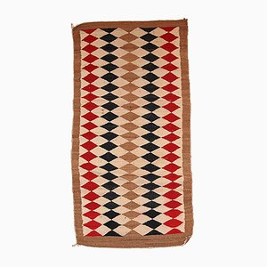 Handmade Native American Navajo Rug, 1920s