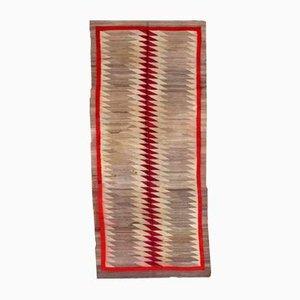 Antiker Handgeknüpfter Navajo Teppich Amerikanischer Ureinwohner