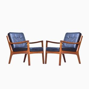Senator Easy Chairs by Ole Wanscher for France & Søn, 1950s, Set of 2