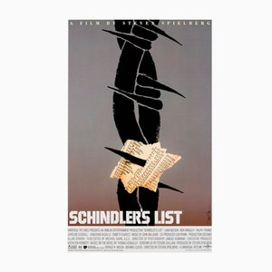 Poster vintage di Schindler's List di Sual Bass, Stati Uniti, 1993