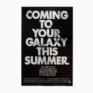 Affiche Star Wars Advance Mylar, Amérique, 1977