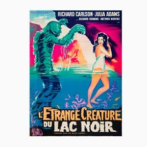 Poster vintage del film Il mostro della Laguna Nera, Francia, 1962