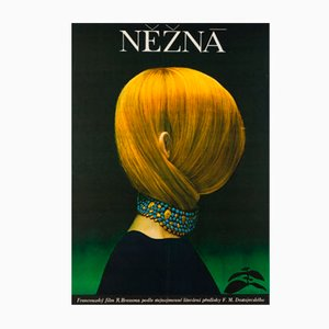 Poster vintage del film Une Femme Douce di Olga Poláčková-Vyleťalová, Repubblica Ceca, 1970