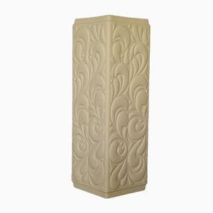 Vase Vintage Blanc Op Art de Hutschenreuther, Allemagne