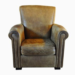 Italian Vintage Leather Club Chair from IDP