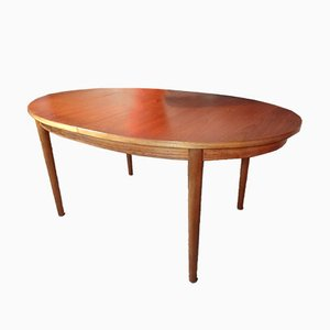 English Extendable Oval Teak Table, 1965