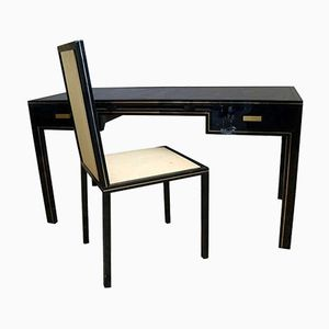 Bureau Vintage avec Chaise Assortie par Pierre Vandel
