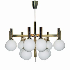 Large Viennese Chandelier from Rupert Nikoll, 1960s