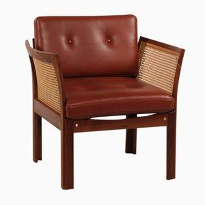 Danish Plexus Easy Chair in Walnut by Illum Wikkelsø for C. F. Christensen, 1960s