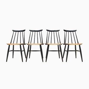 Fanett Chairs by Ilmari Tapiovaara for Asko, 1963, Set of 4