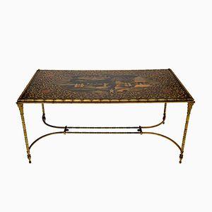 Table Basse Chinoiserie en Bronze de Maison Bagues
