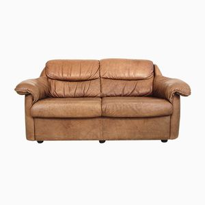 Vintage Saddle Leather Sofa, 1970s