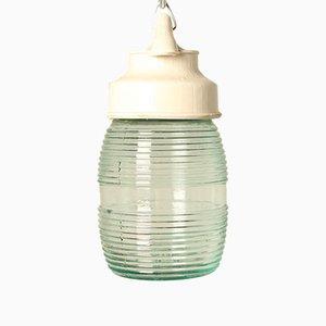 Lampe à Suspension Vintage en Bakélite Blanc