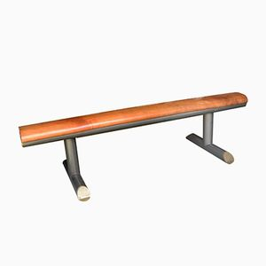 Italian Bench in Wood and Metal, 1960s