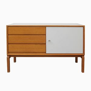 Architect's Sideboard in Oak with White Doors from FDD, 1960s