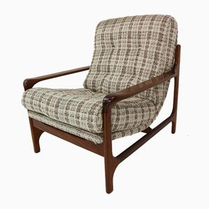 Vintage Danish Organically Shaped Armchair in Rosewood