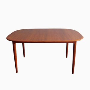 Vintage Danish Teak Dining Table with Two Extensions